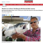Maybe no sockeye docking in Richmond this season